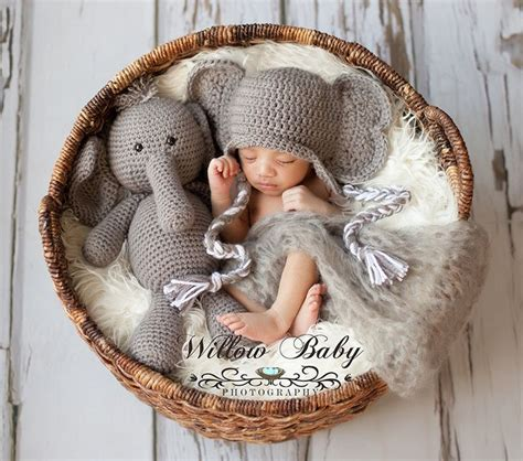 Elephant Hat by Crochet Stuffed Elephant And Elephant Hat Set By