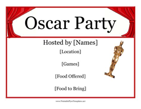 oscar night party flyer