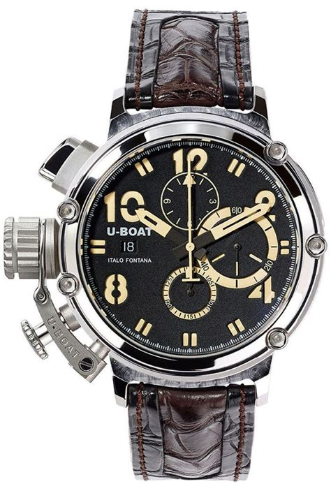 u boat watch pin u boat chimera 48 925 silver limited edition chronograph