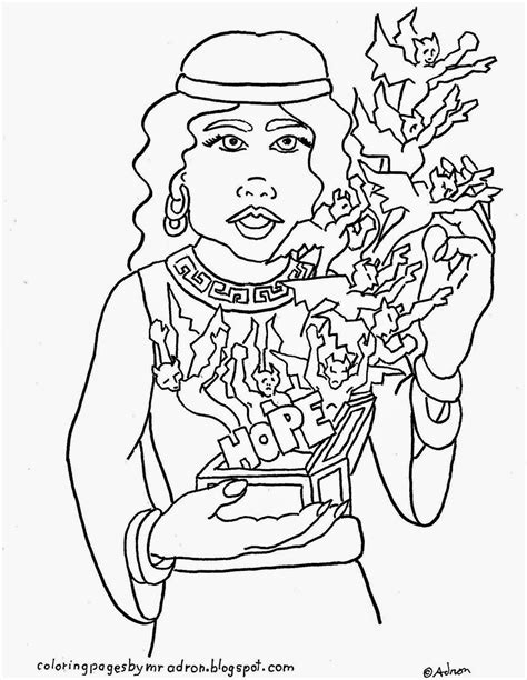 printable version of pandora s box coloring pages for kids by mr adron greek myth pandora
