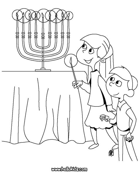 coloring pages for hanukkah kids lighting the menorah coloring pages hellokids com