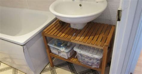 bathroom sink cover up this is a brilliant way to cover up an pedestal sink