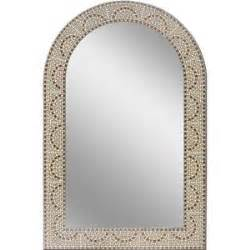 bathroom mosaic mirror earthtone mosaic arch frameless bathroom wall mirror