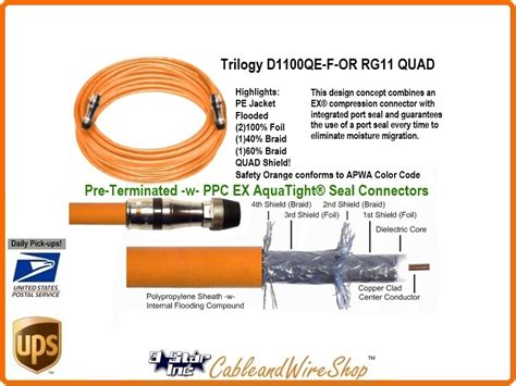 Special Conector Rg11 7c Yuri Product rg11 shield direct burial cable 100 ft 3 inc