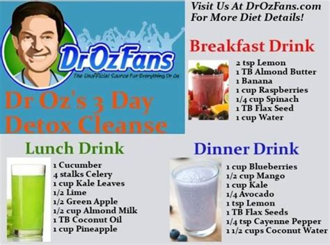 Ten Day Detox Drink by Dr Oz Detox Day Juice Smoothie