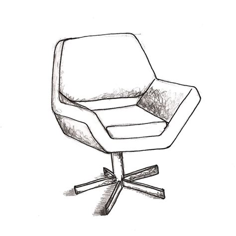 Pencil Sketches Of Chairs Sketch by The Gallery For Gt Basicallyidowrk