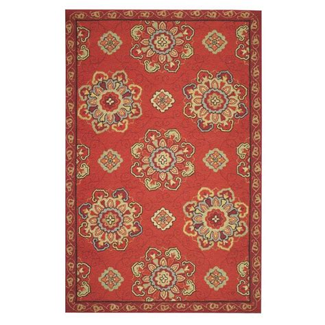Home Decorators Collection Bianca Red 9 Ft X 12 Ft Area Area Rugs Home Depot 9x12
