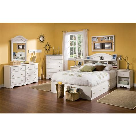 full bedroom design south shore summer breeze 47 in x 32 in white wash