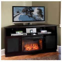 61 quot tv stand with curved electric fireplace modern