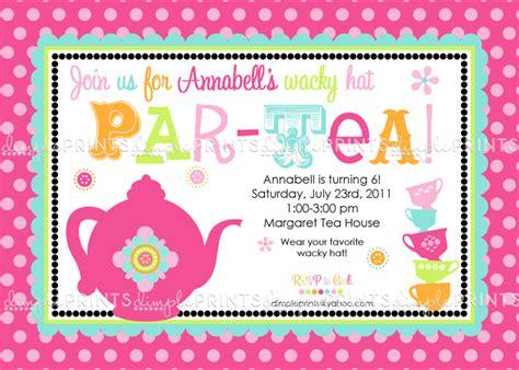 printable invitations tea party tea party printable invitation dimple prints shop
