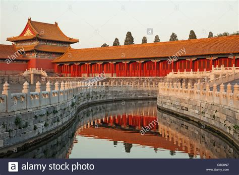 A Palace In Peking china beijing palace museum or forbidden city stock