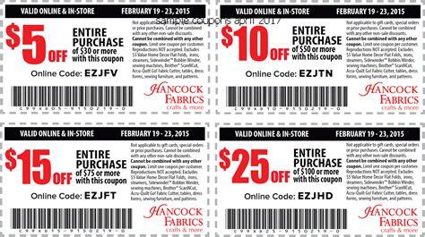 free printable hancock fabric coupons free promo codes and coupons 2018 hancock fabrics coupons