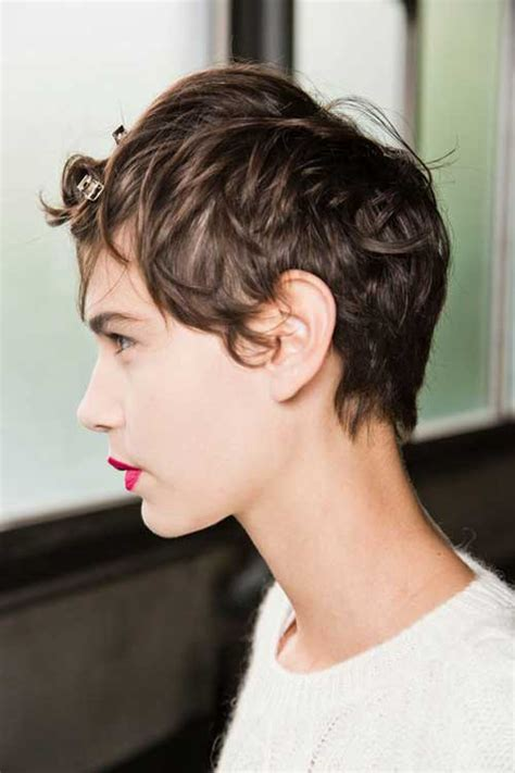 pixie cuts curly hair shaved aound neck and ears 30 short wavy hairstyles for bouncy textured looks