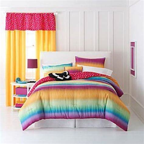 rainbow bedding and curtains the interior design