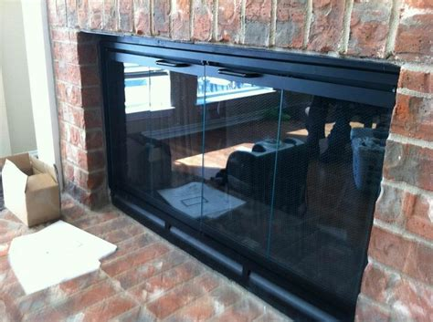 Prefabricated Fireplace Glass Doors 17 Best Ideas About Prefab Fireplace On Glass Doors For Fireplace Fireplace Glass