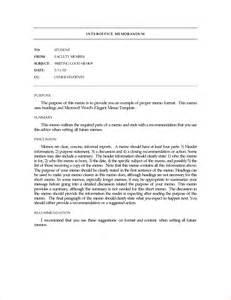 Memo Letter Template by 9 Exle Of Memorandum Memo Formats