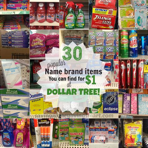 30 popular brand name items for 1 at dollar tree saving