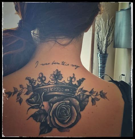 crown with roses tattoo my third crown roses ladygaga i it crown