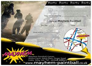 birthday information for parties at mayhem paintball london