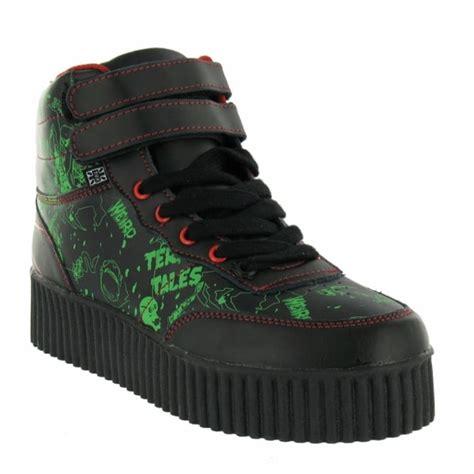 tuk a7408 womens creeper sneakers black green ankle