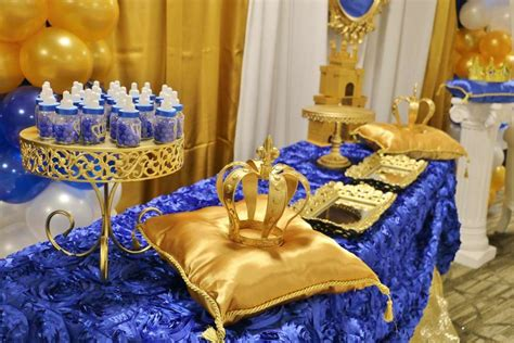 Royal Blue And Gold Baby Shower Decorations by Royal Baby Shower Baby Shower Ideas Royal Prince