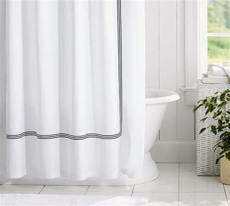 organic shower curtain grand embroidered organic shower curtain pottery barn