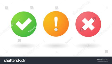Background Check Alert Check Alert Uncheck Icons Stock Vector 157183775