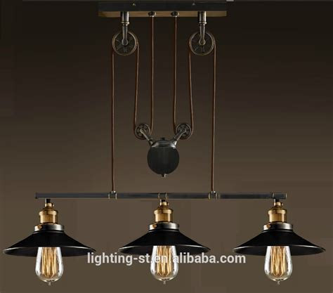 Artistic Light Fixtures Artistic Pendant Light With 3 Lights In Pulley Block Design Morden Simple Home Ceiling Light