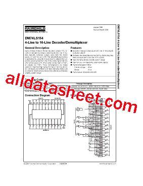 datasheet transistor on5252 pdf 74ls154 datasheet pdf fairchild semiconductor