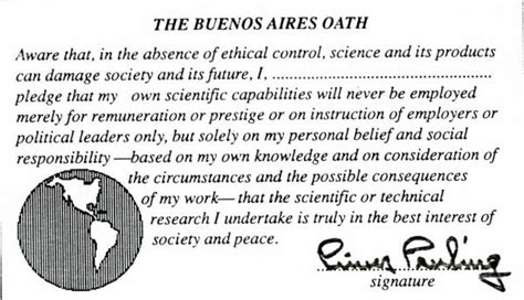 pledge page for research paper quot the buenos aires oath quot january 10 1989 published