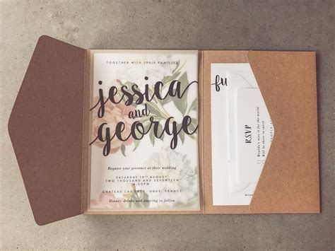 Fold Out Wedding Invitations