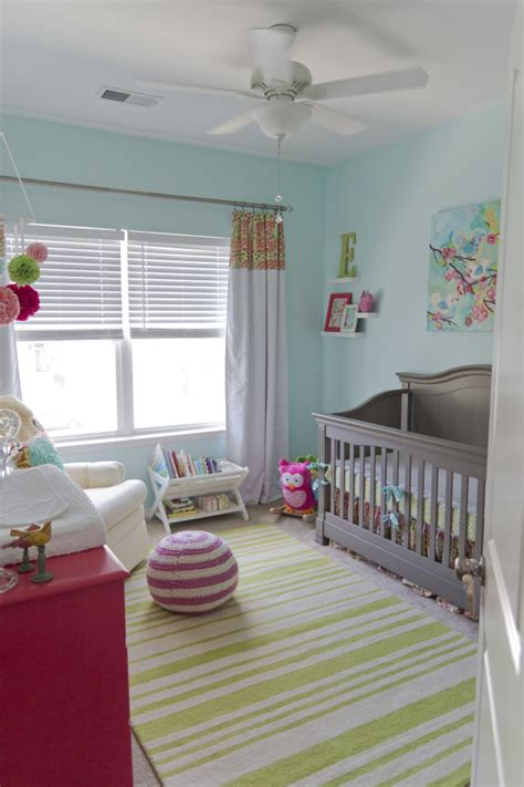 green and pink nursery baby p s cheerful aqua pink and green nursery project