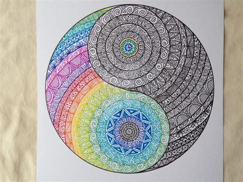 yin yang colors yin yang colour and ink by madebymelw dibujo y pintura