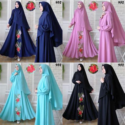 Gamis Cantik Bubblepop gamis syari bubblepop bordir 952 baju muslim murah