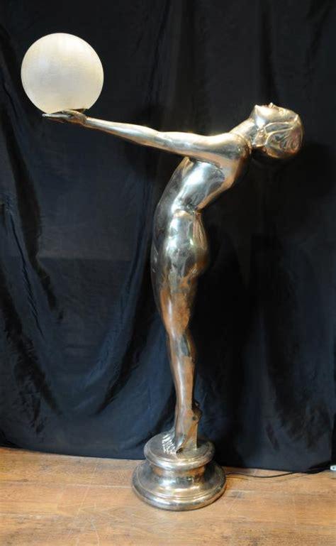 Floor Statues by Xl Silver Bronze Deco Biba L Floor Light Ls Statue