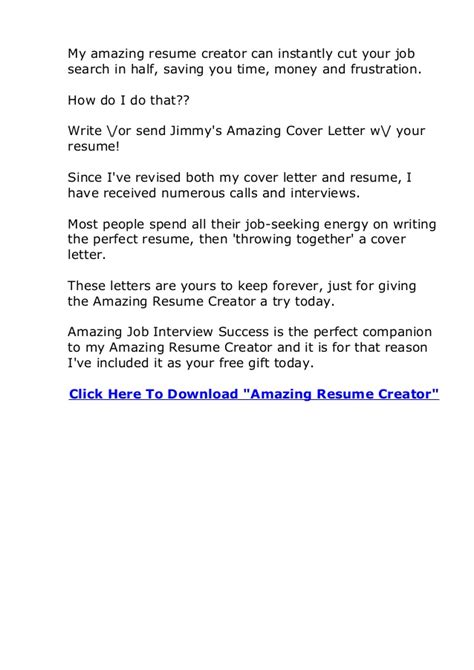 amazing cover letter creator review does amazing resume creator actually work