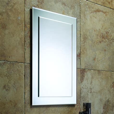 Bevelled Bathroom Mirror | modern homes bathrooms contemporary modern bathroom