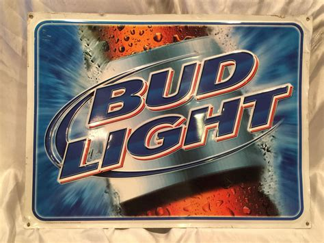 bud light tin signs collectible 2002 pre owned bud light metal tin bar