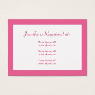 Babyshower Registry Card Template The Bump by Baby Registry Business Cards Templates Zazzle
