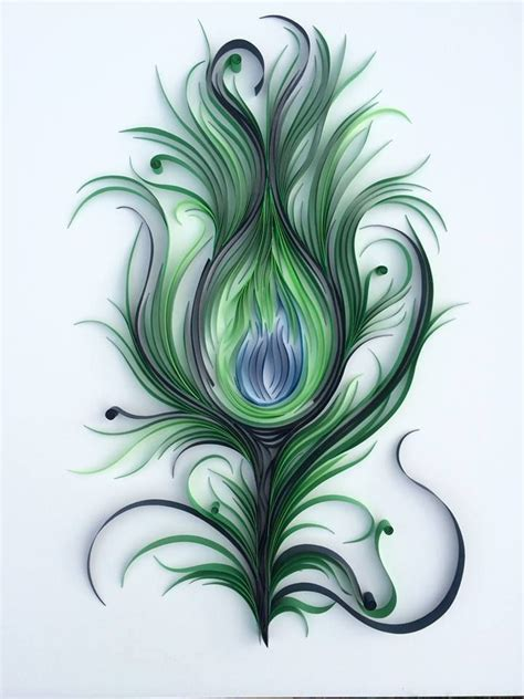paper quilling peacock feather tutorial 467 best peacock quilled images on pinterest