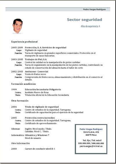 Plantillas De Curriculum Cronologico En Word 7pasos Ejemplos Y Plantillas De Curriculums V 237 Tae Y Cartas De Presentaci 243 N