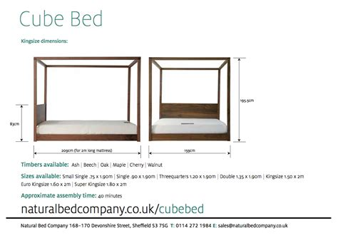 Size Bed Measurements In by Cube Modern Four Poster Bed Solid Wood Bed