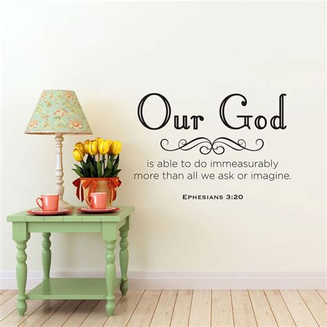 Tree Stickers For Walls ephesians 3 20 christian wall decal divine walls
