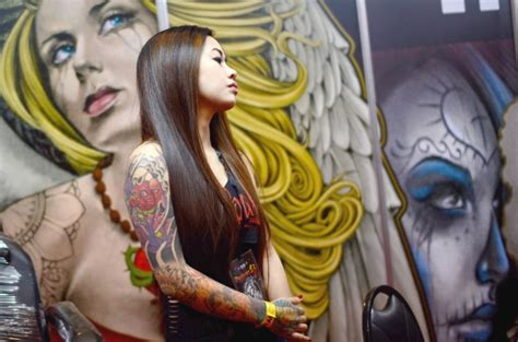 festival tattoo indonesia 2015 photos tattoo enthusiasts get to the point in manila