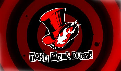 phantom theif calling card template persona 5 calling card take your ducks by
