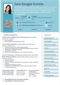 Modelo Curriculum Vitae Para Recursos Humanos Mi Cv 191 Y El Tuyo Objetivo Recursos Humanos