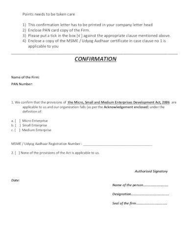 company confirmation letter templates google docs