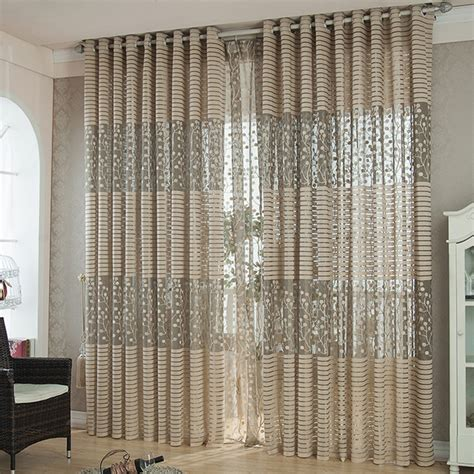 sheer curtains modern 3colors high quality modern luxury window curtains for
