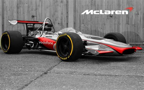 old mclaren no other way round mclaren m14a in vodafone livery