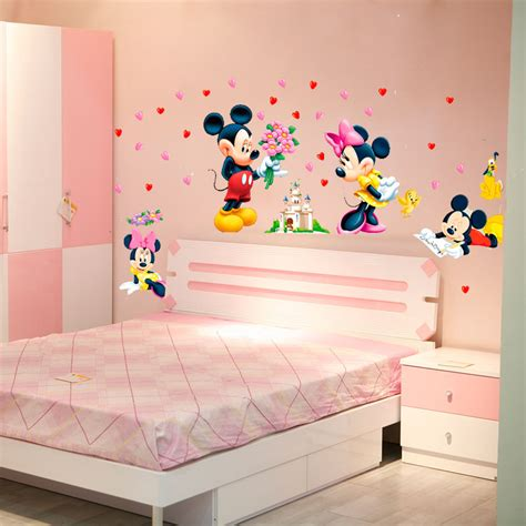 mickey mouse bedroom stickers cartoon mickey minnie mouse baby home decals wall stickers